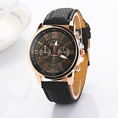 preiswerte Damenuhren-Damen Armbanduhr Armbanduhren für den Alltag PU Band Modisch / Elegant Schwarz / Weiß / Blau / Ein Jahr / Jinli 377