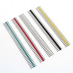 cheap 3D Printer Accessories-Multicolor 40-Pin 2.54mm Pitch Pin Headers (10 PCS)