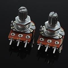 Gitar / bas için 3-pinli b20k ses kontrolü potansiyometresi (2 adet)