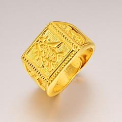 Недорогие Женские украшения-Массивные кольца Позолота 24K Plated Gold Бижутерия Уникальный дизайн Мода Бижутерия Свадьба Для вечеринок Повседневные Спорт 1шт
