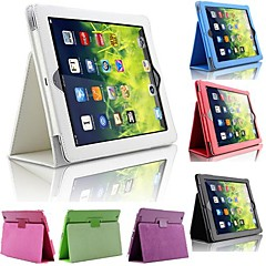 abordables Carcasas y Fundas para iPad Air-Funda Para iPad Air con Soporte Funda de Cuerpo Entero Un Color Cuero de PU para iPad Air