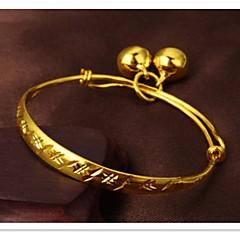 мелкозернистый 24-каратного золота покрытие и детский колокол браслет