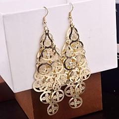 preiswerte Ohrringe-Damen Mehrschichtig Tropfen-Ohrringe - Clover Mehrlagig Gold / Silber Für