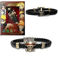 Bijuterii Inspirat de One Piece Cosplay Anime Accesorii Cosplay Brățări Negru Aliaj Bărbătesc
