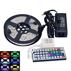 cheap LED Strip Lights-JIAWEN 5m Flexible LED Light Strips / Light Sets 300 LEDs 5050 SMD / SMD5050 1 44Keys Remote Controller / 1 AC Cable / 1 X 12V 3A Power Supply RGB Waterproof / Cuttable / Decorative 100-240 V 1 set