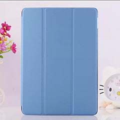 billige Etuier / Covers Til iPad Air 2-Etui Til iPad Air 2 Med stativ Origami Fuldt etui Helfarve PU Læder for iPad Air 2