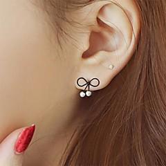preiswerte Ohrringe-Damen Perle Ohrstecker - Perle Schleife Einzigartiges Design, Modisch Schwarz Für Party / Alltag / Normal