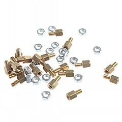 abordables Conectores y Terminales-m3 x 5mm& 5 terminales de poste de unión de cobre DIY (20 piezas)