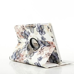 billige Etuier / Covers Til iPad Air-Etui Til iPad Air Med stativ Origami 360° Rotation Fuldt etui Blomst PU Læder for iPad Air