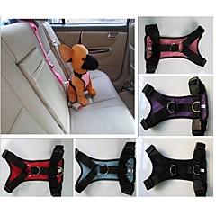 お買い得  犬用首輪/リード/ハーネス-ネコ 犬 ハーネス 車内用ドッグリード/犬用シートベルト 防水 ナイロン ブラック パープル レッド ブルー ピンク