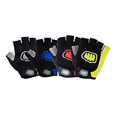 FJQXZ Γάντια για Δραστηριότητες/ Αθλήματα Γάντια ποδηλασίας Φοριέται Αναπνέει Ανθεκτικό στη φθορά Αντικραδασμική Χωρίς Δάχτυλα Δέρμα