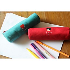 Forest Series Canvas Pencil-Box Pen Bag(Random color)
