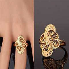 preiswerte Ringe-Damen Bandring - vergoldet, Aleación Modisch Golden Für Hochzeit Party Alltag