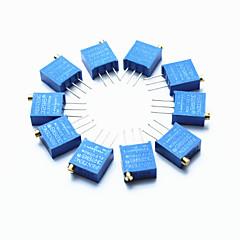 3296 haute précision 104 100k ohms résistance variable potentiomètre coupe - bleu (10 pièces)