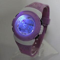 preiswerte Damenuhren-Kinder Modeuhr / Digitaluhr Japanisch Armbanduhren für den Alltag Silikon Band Cool Lila / Ein Jahr