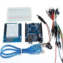 tanie Płyty główne-uno + rozszerzenie prototyp wyżywienie dla Arduino i makiet