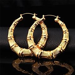 preiswerte Ohrringe-Kreolen / Ohrring - Retro, Party, Büro Gold / Silber Für Party / Jahrestag / Geburtstag / überdimensional