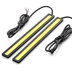 Недорогие Дневные фары-SO.K 2pcs Лампы 7 W COB 400 lm Светодиодная лампа Фары дневного света For Универсальный Все модели Все года