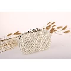 Для женщин Для праздника / вечеринки Вечерняя сумочка Белый Со стразами