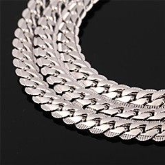 cheap Necklaces-Men's Women's Rose Gold Gold Plated Choker Necklace Chain Necklace Vintage Necklace - Fashion Circle Silver Rose Golden Necklace For