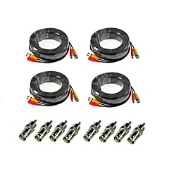 billige Overvågningssystemer-ANNKE® Kabler 4Pcs 100ft Audio Video Power Security Camera Extension Cables with Bonus BNC RCA Connectors for Sikkerhed Systemer 3000cm
