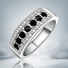 Női Karikagyűrűk Divat Méretes ékszerek jelmez ékszerek Ezüst Kocka cirkónia Hamis gyémánt Ékszerek Kompatibilitás Parti
