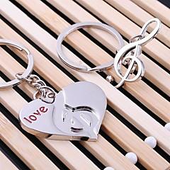 halpa -heart music häät avaimenperään avaimenperä rakastaja Ystävänpäivä (yksi pari)