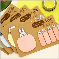 Animal 2 Shapes Kraft Paper Self-Stick Note(Random Color) For School / Office