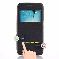 Varten Samsung Galaxy kotelo Tuella / Ikkunalla / AutomAutomaattinen auki/kiinni / Flip Etui Kokonaan peittävä Etui Yksivärinen Tekonahka