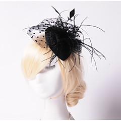 abordables Bijoux pour Femme-Perle / Cristal / Plume Diadèmes / Fascinators / Chapeaux avec 1 Mariage / Occasion spéciale / Fête / Soirée Casque / Tissu
