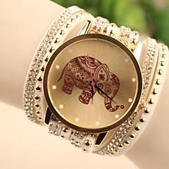 preiswerte Damenuhren-Damen Quartz Armbanduhr / Armband-Uhr Imitation Diamant Leder Band Zeichentrick / Modisch Weiß / Blau / Rot / Gold