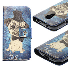 Για Samsung Galaxy Θήκη Θήκη καρτών / με βάση στήριξης / Ανοιγόμενη / Με σχέδια tok Πλήρης κάλυψη tok Σκύλος Συνθετικό δέρμα SamsungS4