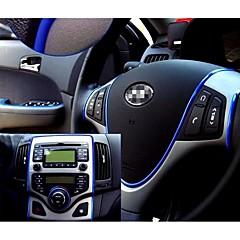 preiswerte Auto Aufkleber-Auto-Aufkleber Dekoration Aufkleber Auto Gewinde Styling Innen pater Innenraum Außenkörper Aufkleber 6 Farben 5m / pcs ändern