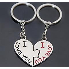 baiser de coeur mariage romantique trousseau de clés pour le jour de valentine amant (une paire)