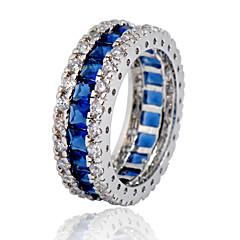 Férfi Női Karikagyűrűk jelmez ékszerek Cirkonium Kocka cirkónia Drágakő Ékszerek Kompatibilitás Esküvő Parti Napi Hétköznapi Sport
