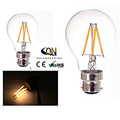 preiswerte LED-Birnen-b22 führte Fadenbirnen a60 (a19) 4 Pfeiler 400lm warmes weißes 2800-3200k dimmable Wechselstrom 220-240 Wechselstrom 110-130v