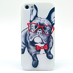 Недорогие Кейсы для iPhone 4s / 4-Кейс для Назначение iPhone 5 / Apple Кейс для iPhone 5 С узором Кейс на заднюю панель С собакой Мягкий ТПУ для iPhone SE / 5s / iPhone 5
