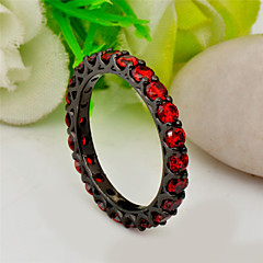 cheap Rings-Women's Zircon / Gem Statement Ring - Fashion Red / Pink / Light Blue Ring For Wedding / Party / Daily