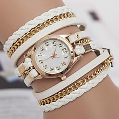 お買い得  大特価腕時計-yoonheel 女性用 クォーツ ブレスレットウォッチ ホット販売 レザー バンド ボヘミアンスタイル ファッション ブラック 白 ブラウン