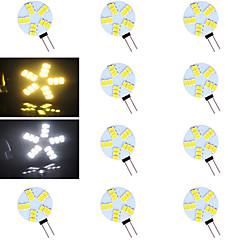 G4 Luci LED Bi-pin 15 leds SMD 5730 Bianco caldo Luce fredda 500-800lm 2700-3500/6000-6500K AC 12V