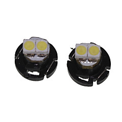 cheap LED Car Bulbs-T4.2 Car Truck & Trailer Motorcycle White 0.5W SMD 3528 6500-7000Instrument Light Reading Light Side Marker Light Turn Signal Light LED