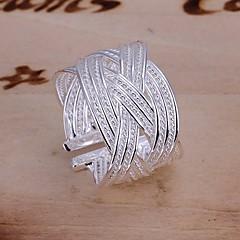 voordelige Damessieraden-Ringen Bruiloft / Feest / Dagelijks / Causaal Sieraden Verzilverd Dames Statementringen 1 stuks,Verstelbaar Zilver