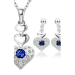 Women's Stud Earrings Necklace Cubic Zirconia Fashion Zircon Drop For Wedding Daily Casual Office & Career Wedding Gifts