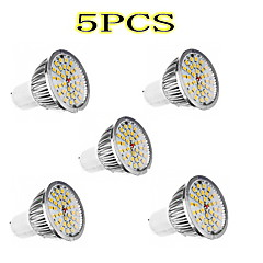 voordelige LED-lampen-Lexing 5pcs gu10 5w 36x2835smd 300-350 lm 2700-3200k warm wit licht geleid spotbol (90-240v)