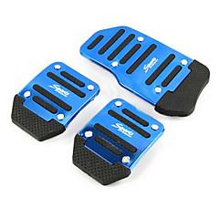abordables Piezas para el Coche-pedal pedales deslizamiento coche acelerador de pedal de freno de aluminio adecuados para coche manual (colores surtidos)