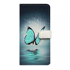 Για Θήκη iPhone 5 Πορτοφόλι / Θήκη καρτών / με βάση στήριξης / Ανοιγόμενη / Με σχέδια tok Πλήρης κάλυψη tok Πεταλούδα ΣκληρήΣυνθετικό