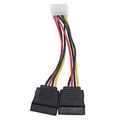 お買い得  ケーブル、アダプター-4ピンIDEモレックスデュアル15ピンのシリアルATA、SATAハードドライブ電源アダプタケーブルへ