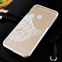 Недорогие Кейсы для iPhone 6 Plus-Кейс для Назначение Apple iPhone 6 iPhone 6 Plus Прозрачный С узором Кейс на заднюю панель Кот Твердый ПК для iPhone 6s Plus iPhone 6s