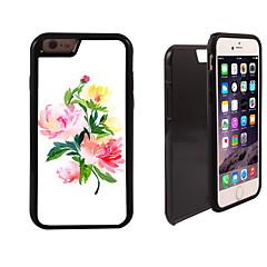 elegante patrón de flores 2 en 1 armadura híbrido de cuerpo completo de doble capa golpes protector de caja delgada para el iphone 6