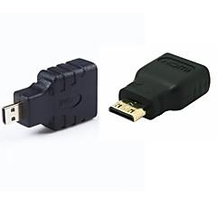 HDMI mini HDMI kobiet do mężczyzn& hdmi hdmi adapter mikro mężczyzna konwerter SET / 2szt (1xmini hdmi hdmi + 1xmicro)